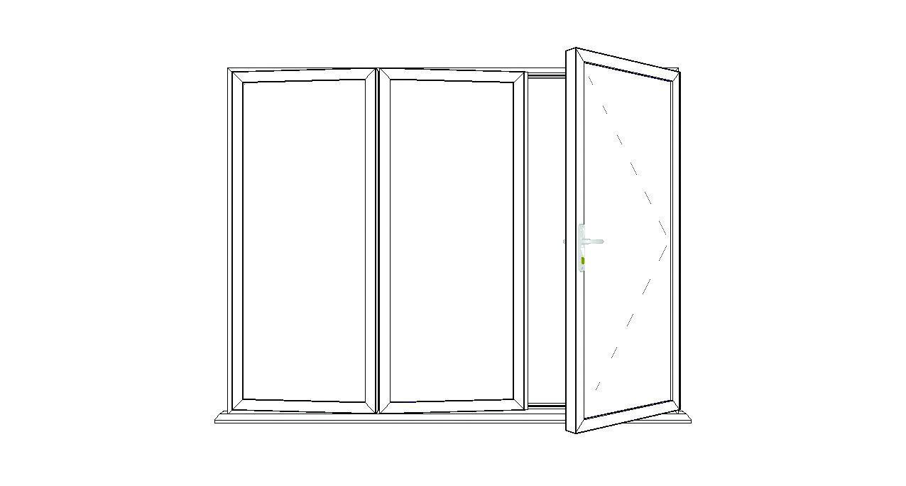 3 Pane Bi Fold Door