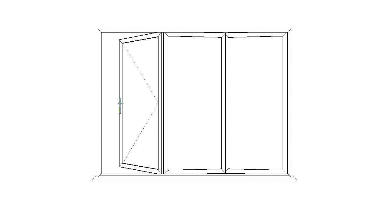 3 Pane Bi Fold Open Option 2