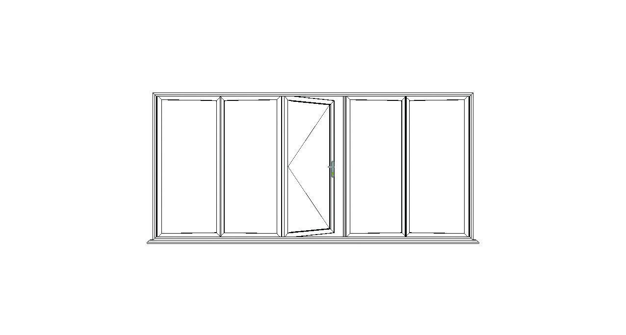 5 Pane Bi Fold Option 3