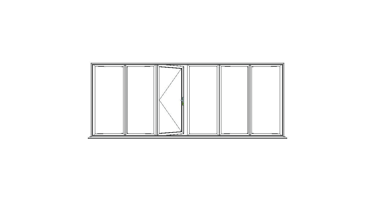 6 Pane Bi Fold Option 2