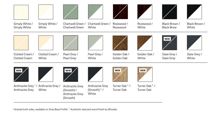 Flush Fit Colour Options